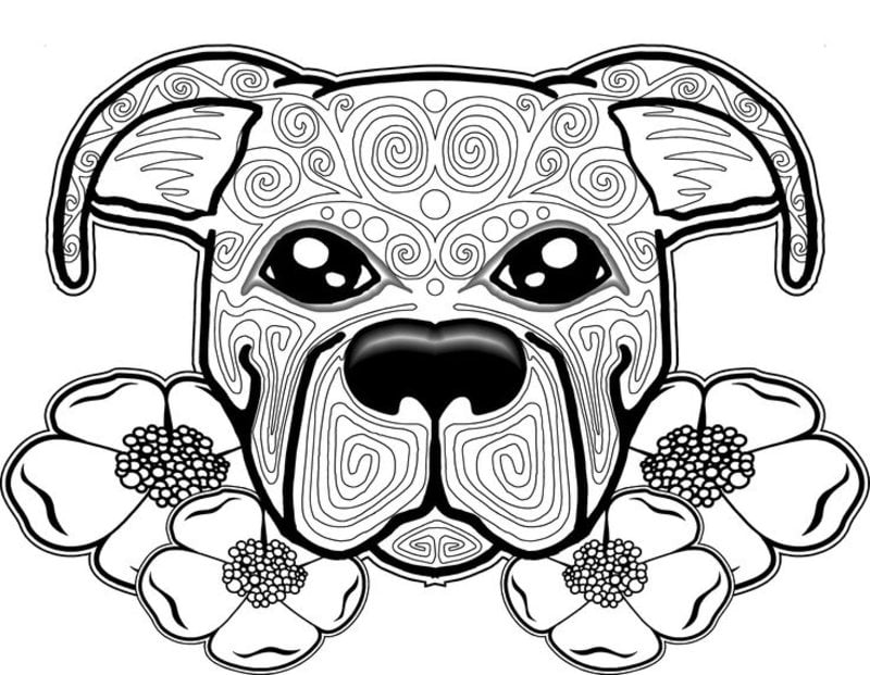 Kolorowanki Dla Doroslych Pies Do Druku Pobrania Za Darmo Jpg Pdf