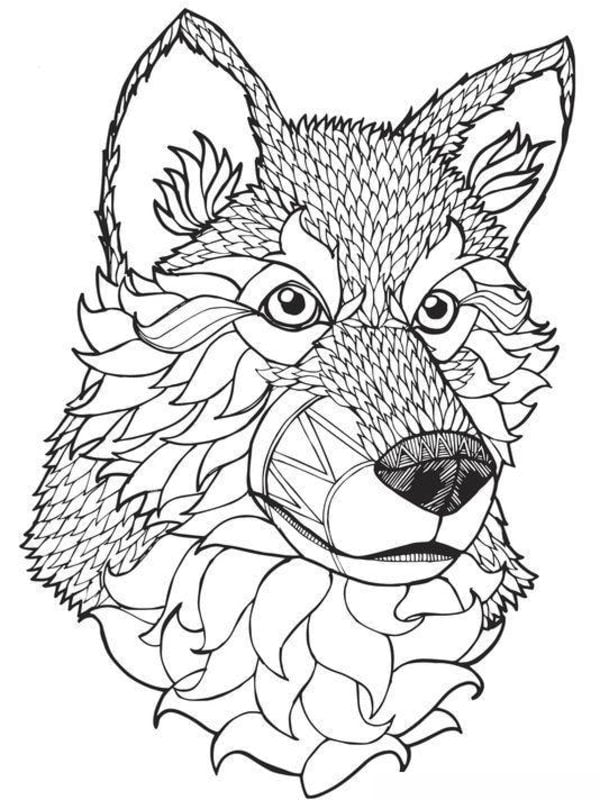 ausmalbilder für erwachsene wolf zum ausdrucken