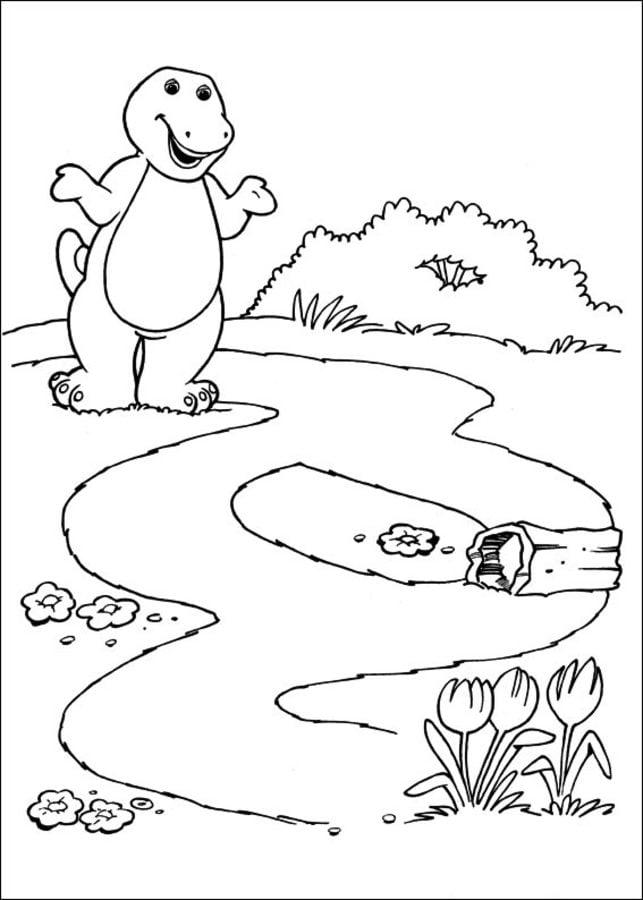 Atemberaubend Barney Und Freunde Malvorlagen Bilder - Beispiel ...