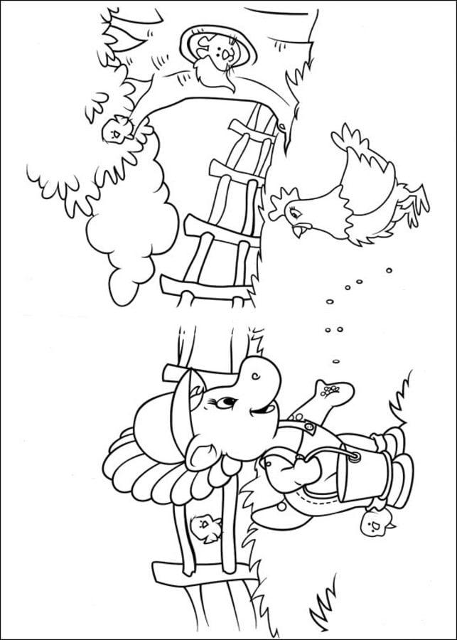 Fantástico Barney Navidad Para Colorear Festooning - Dibujos de ...
