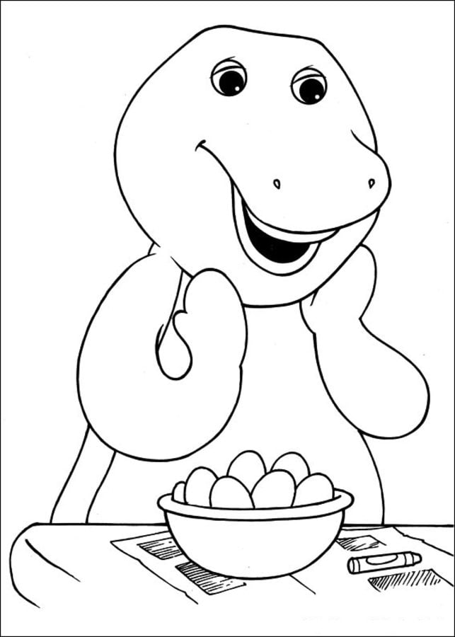 Barney And Friends Coloring Pages - GetColoringPages.com | 900x643