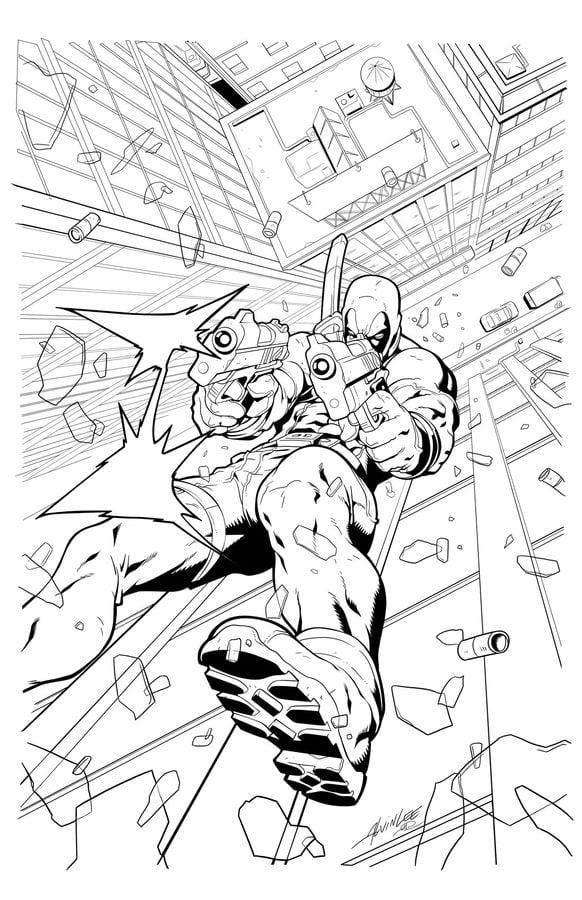 Dibujos para colorear: Deadpool imprimible, gratis, para los niños y ...