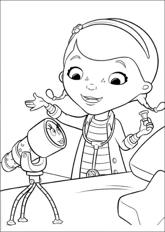 Ausmalbilder Doc McStuffins zum ausdrucken kostenlos fr Kinder