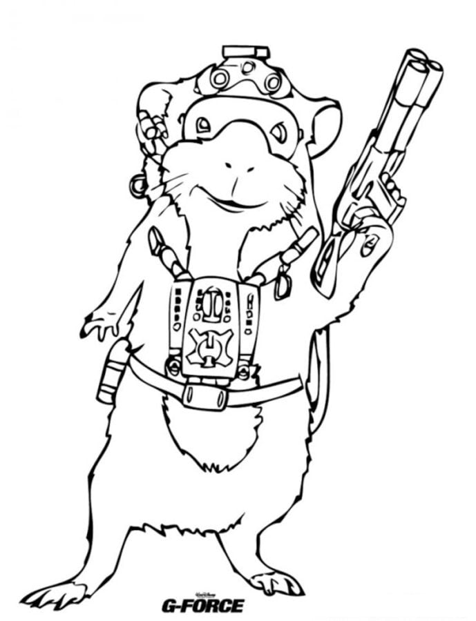 Dibujos para colorear: G-Force imprimible, gratis, para los niños y ...