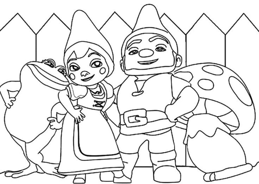 Coloring pages: Coloring pages: Gnomeo & Juliet, printable ...