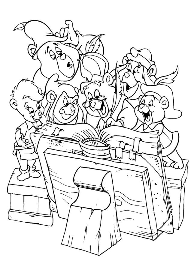 gummi bears cartoons coloring pages