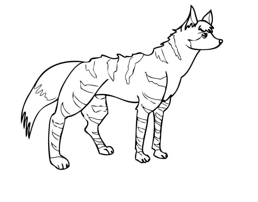 disegni da colorare iena stampabile gratuito per