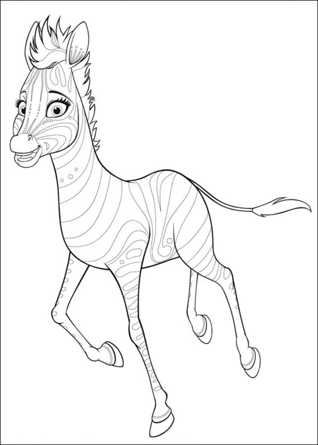 Coloring pages Coloring pages Khumba printable for kids
