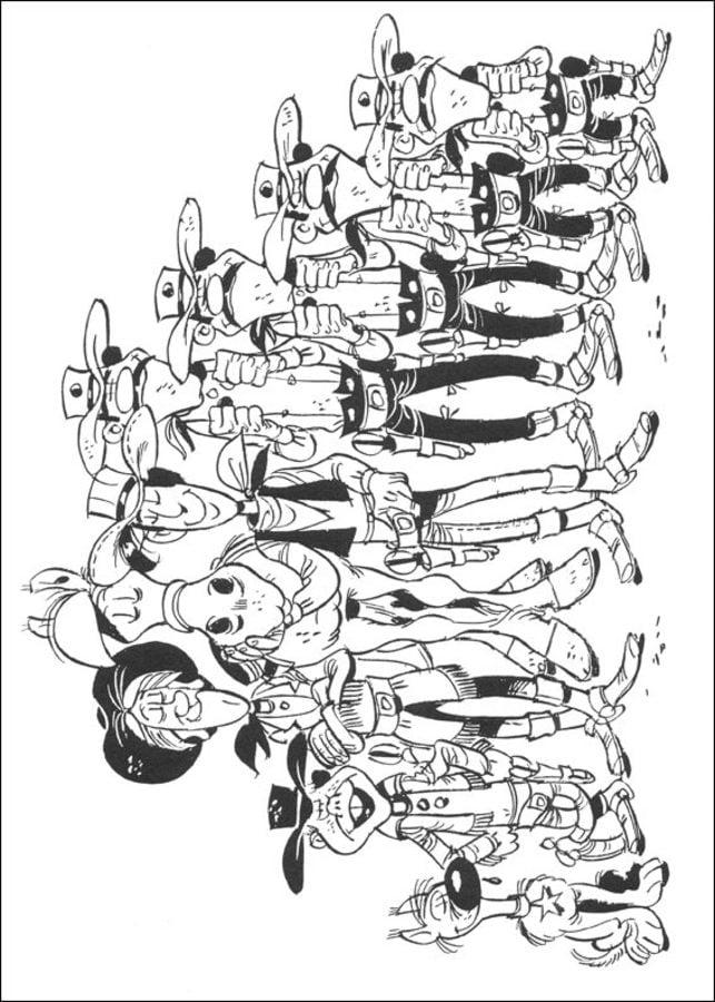 Ausmalbilder: Lucky Luke zum ausdrucken, kostenlos, für ...