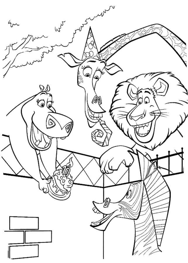 Dibujos para colorear: Madagascar imprimible, gratis, para los niños ...