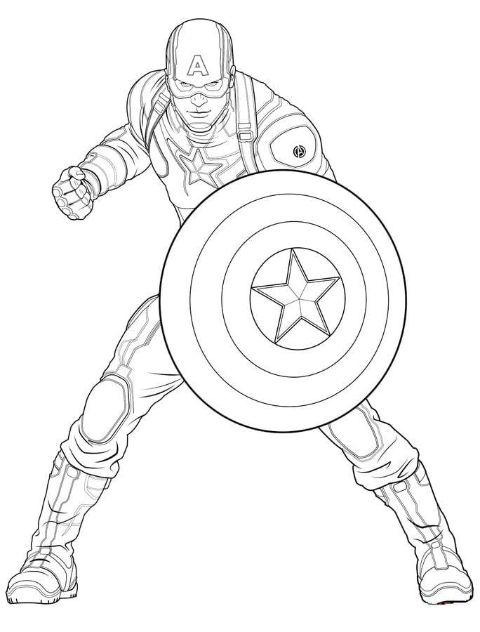 Dibujos para colorear Los Vengadores imprimible gratis para los