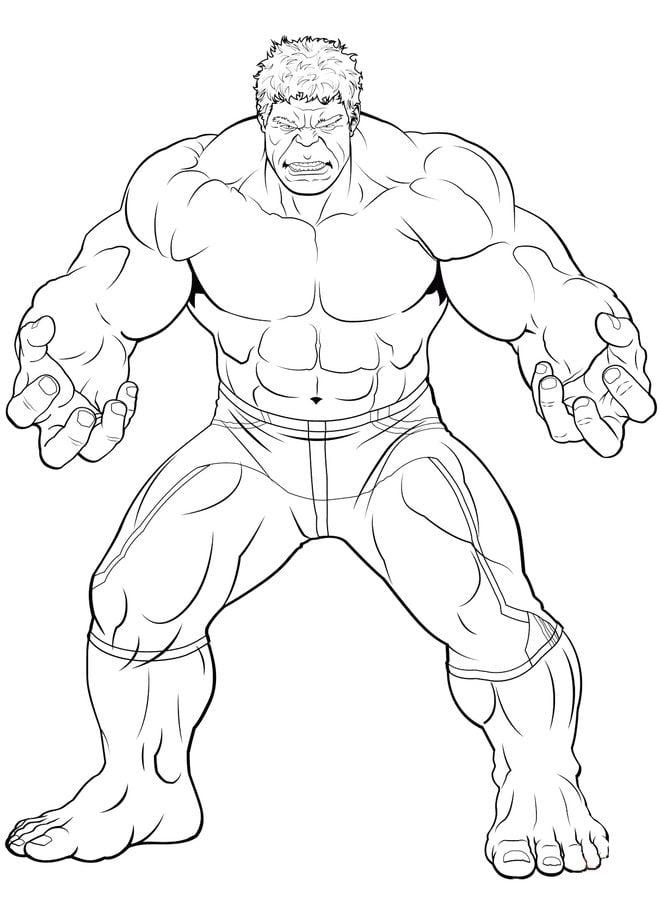 Dibujos para colorear: Los Vengadores imprimible, gratis, para los ...