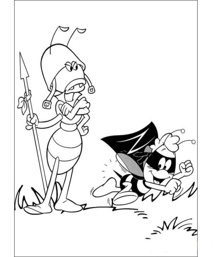 Ausmalbilder: Biene Maja Ausmalbilder Zeichentrickfilme