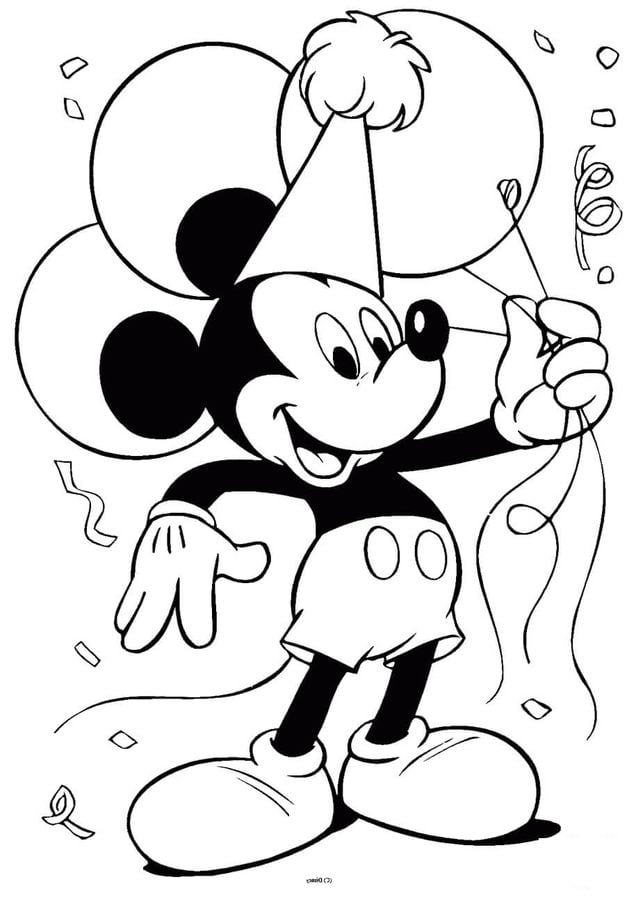 coloring pages mickey mouse printable for kids adults free