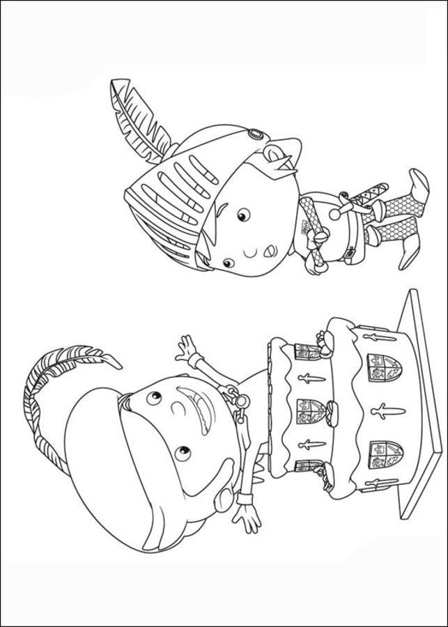 Disegni da colorare mike il cavaliere stampabile - Cavaliere libro da colorare ...