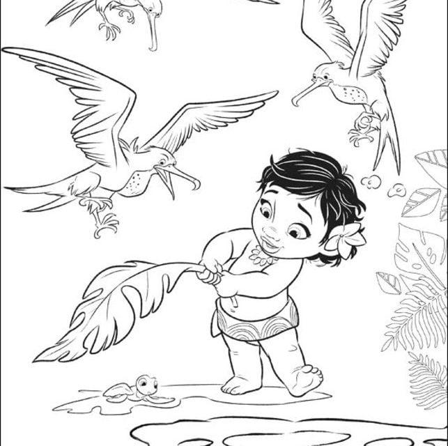 Kolorowanki Vaiana Skarb Oceanu Do Druku Dla Dzieci I