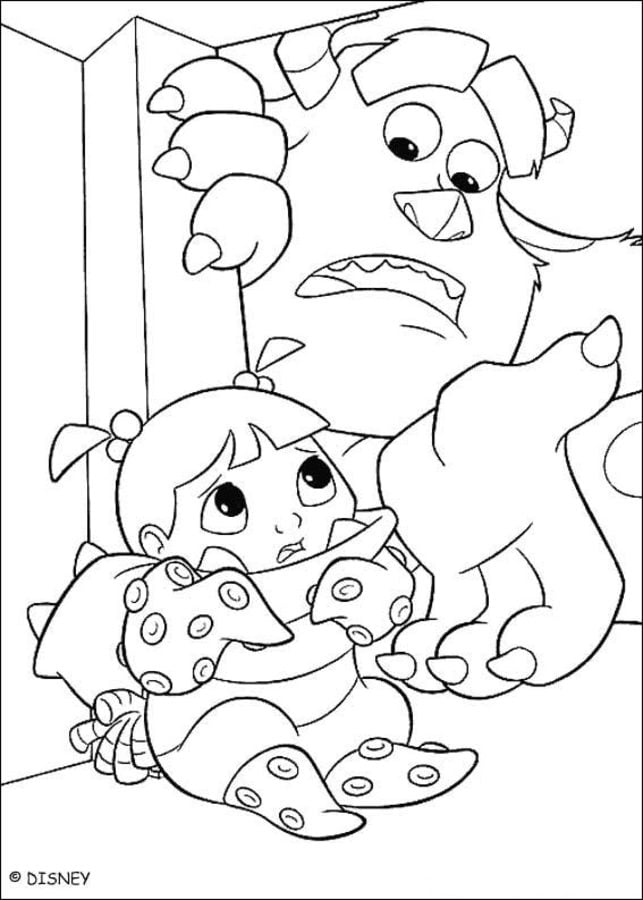 Dibujos para colorear: Monsters, Inc imprimible, gratis, para los ...