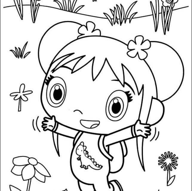 Dibujos para colorear: Ni Hao, Kai-Lan imprimible, gratis, para los ...