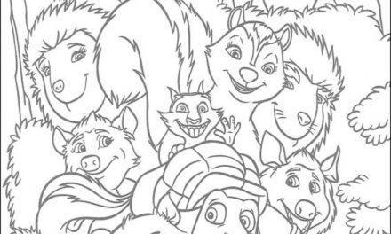 Over the hedge coloring pages on Coloring-Book.info | 264x440