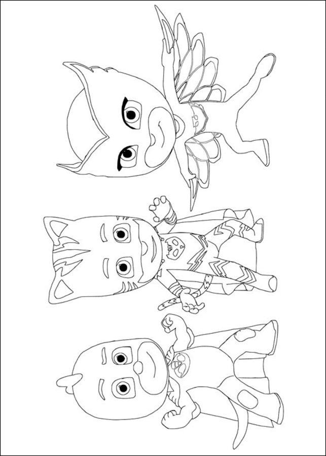 Ausmalbilder: PJ Masks – Pyjamahelden zum ausdrucken, kostenlos, für ...
