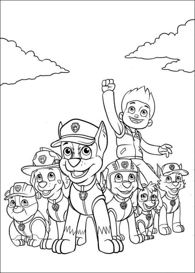 Dibujos Para Colorear Paw Patrol Imprimible Gratis Para Los Niños