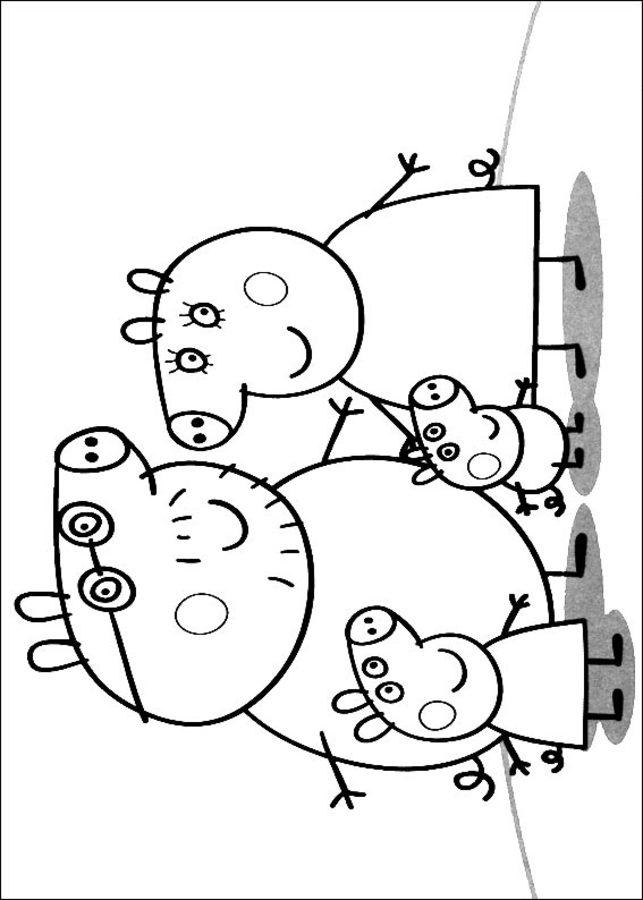 Dibujos Para Colorear Peppa Pig Imprimible Gratis Para Los Niños
