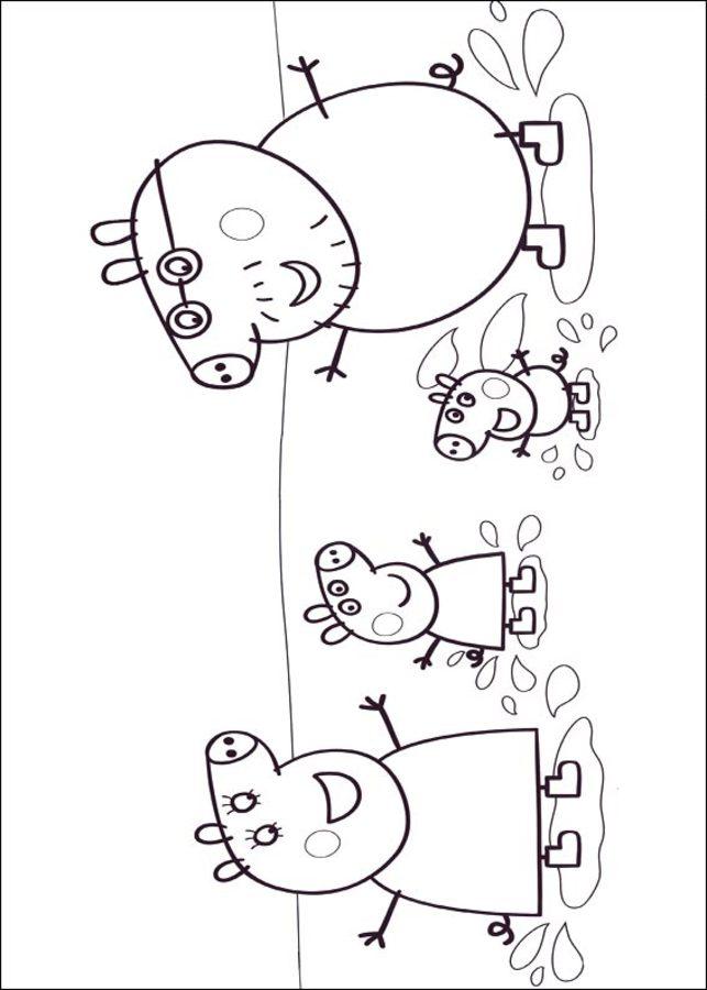 ausmalbilder: peppa wutz zum ausdrucken, kostenlos, für
