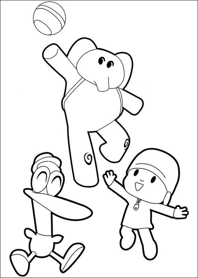 Kolorowanki Kolorowanki Pocoyo Do Druku Dla Dzieci I Doroslych