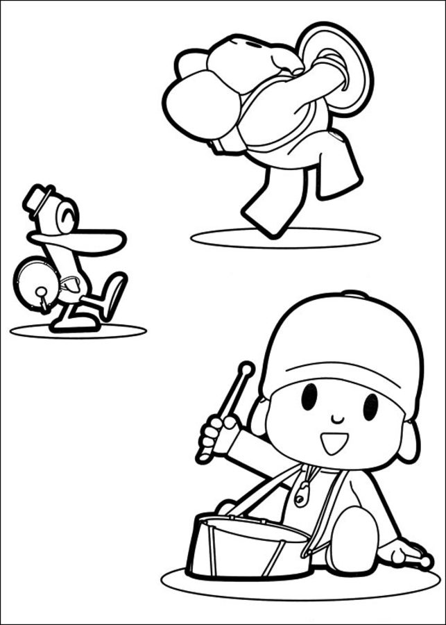 Coloring pages: Coloring pages: Pocoyo, printable for kids ...