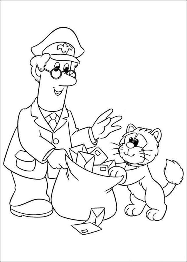Kolorowanki Listonosz Pat do druku dla dzieci i doros ych
