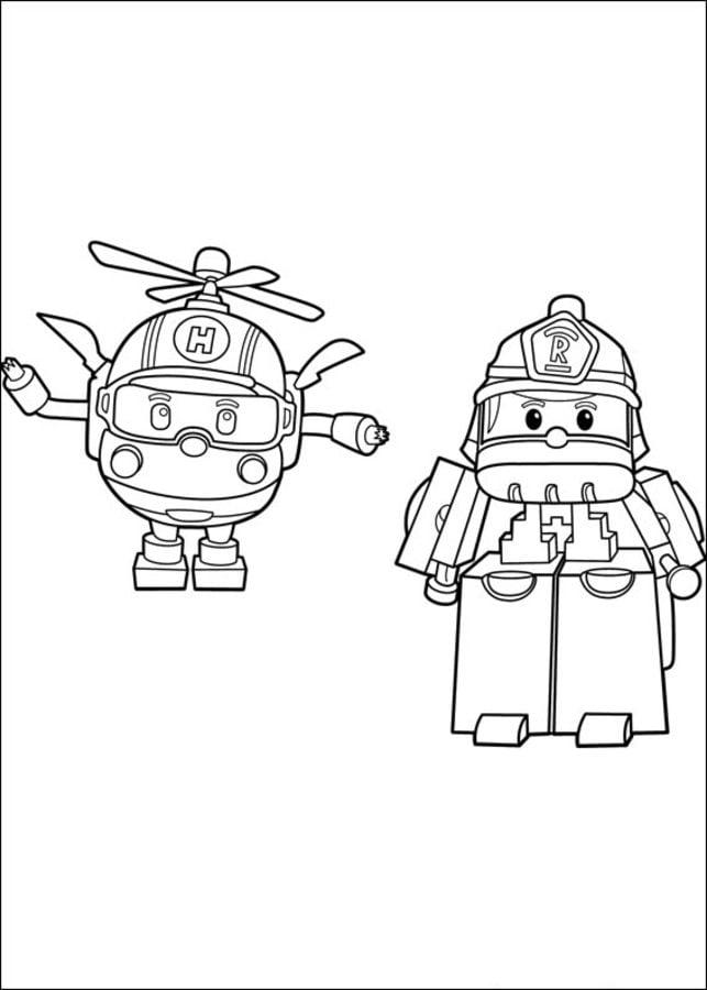 Coloriages robocar poli imprimable gratuit pour les - Dessin anime robocar poli ...