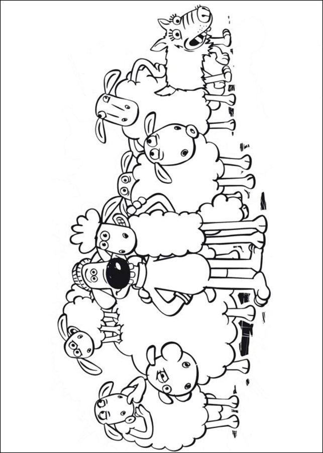 Ausmalbilder Ausmalbilder Shaun Das Schaf Zum Ausdrucken Kostenlos Fur Kinder Und Erwachsene