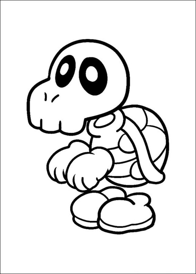 Disegni da colorare super mario bros stampabile gratuito for Disegni da colorare super mario bros