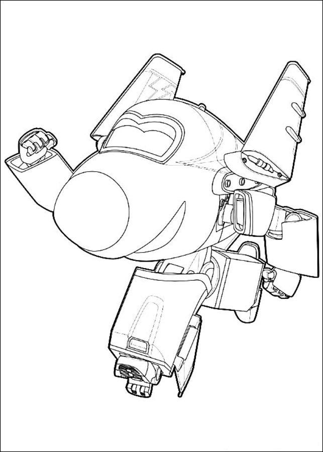 Ausmalbilder: Super Wings zum ausdrucken, kostenlos, für Kinder und ...