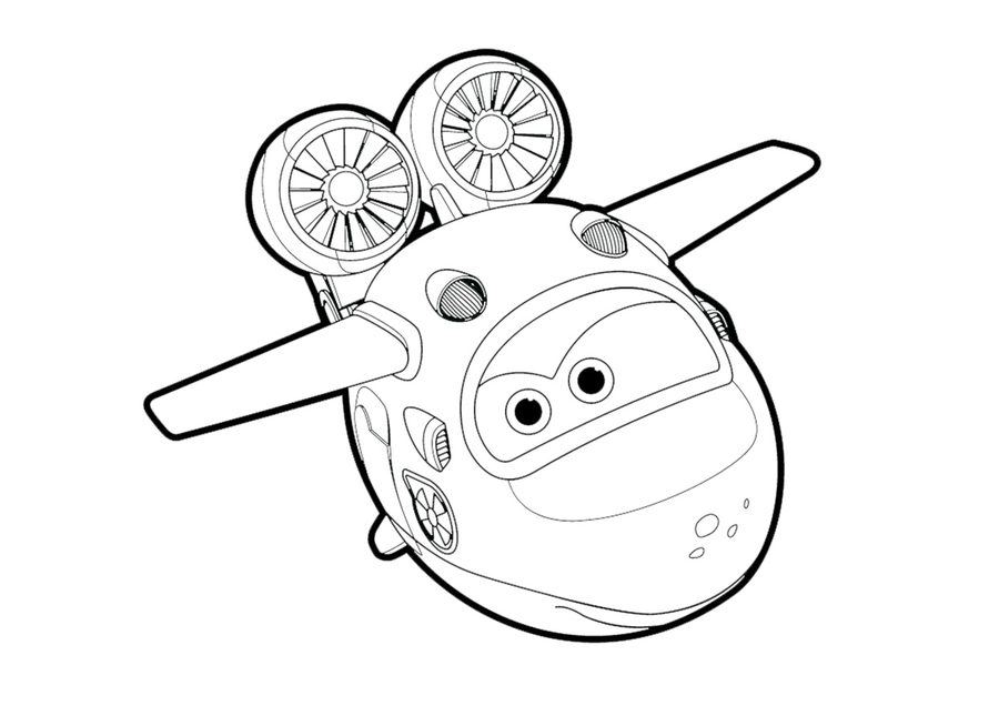 Coloring Pages Super Wings Printable For Kids Adults Free