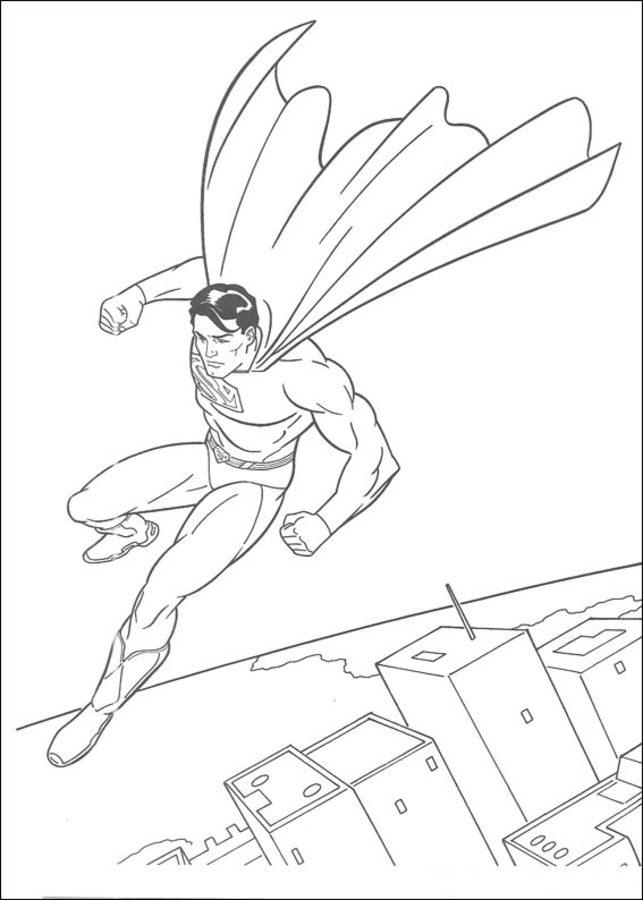ausmalbilder: superman zum ausdrucken, kostenlos, für