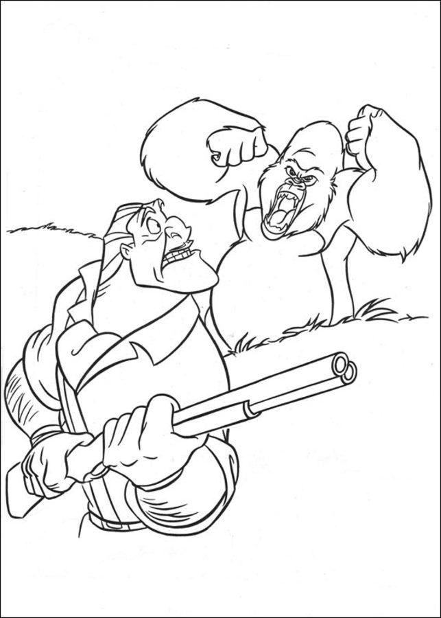 Dibujos Para Colorear Tarzan Imprimible Gratis Para Los