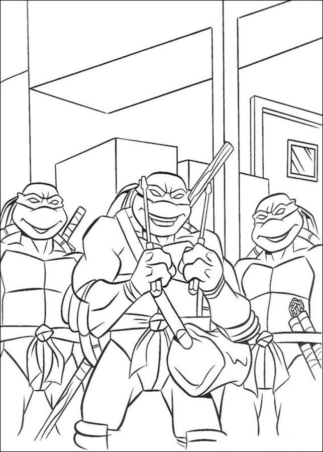 Dibujos Para Colorear Tortugas Ninja Imprimible Gratis Para Los