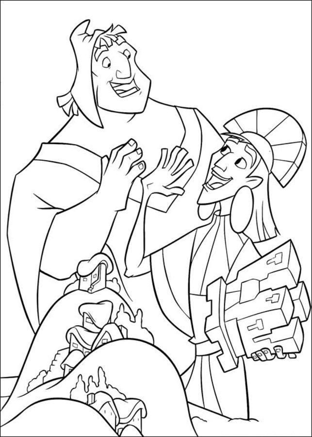Disegni da colorare le follie dell 39 imperatore stampabile for Emperor s new groove coloring pages