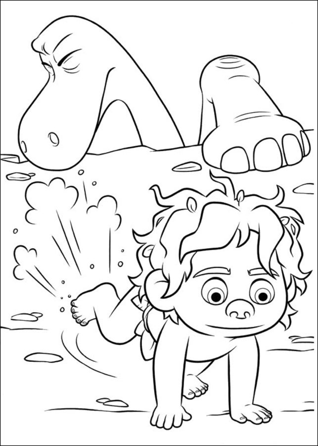 Coloring pages The Good Dinosaur printable for kids  adults free