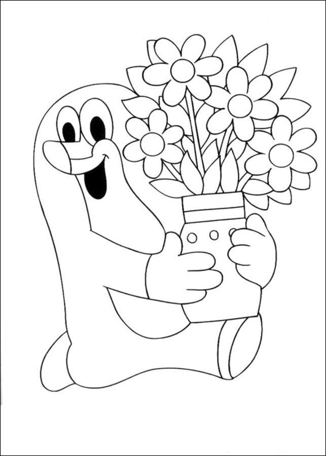 Dibujos Para Colorear Krtek Imprimible Gratis Para Los Niños Y
