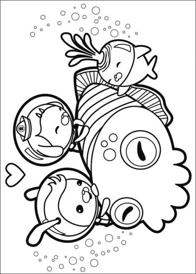Dibujos para colorear: Octonautas imprimible, gratis, para los niños ...