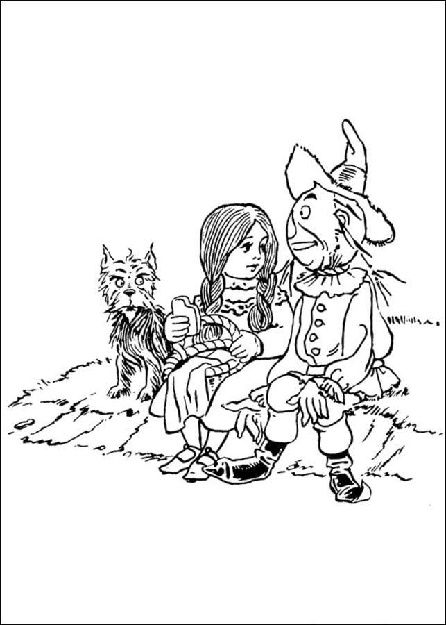 Disegni Da Colorare Il Mago Di Oz Stampabile Gratuito