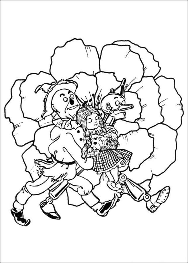 Único Wizard Of Oz Para Colorear Imprimible Festooning - Dibujos ...