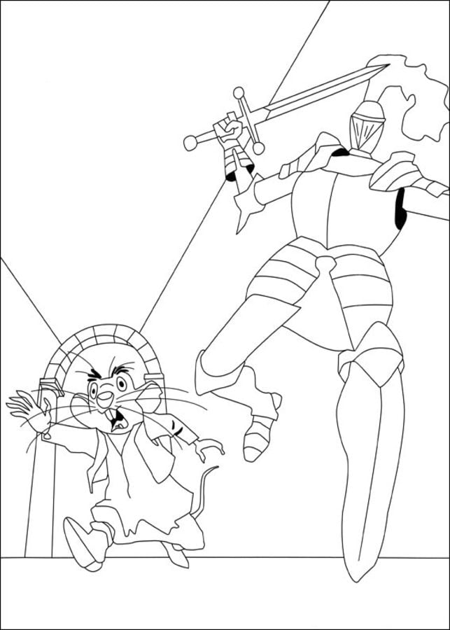 Dibujos para colorear: Despereaux: un pequeño gran héroe imprimible ...