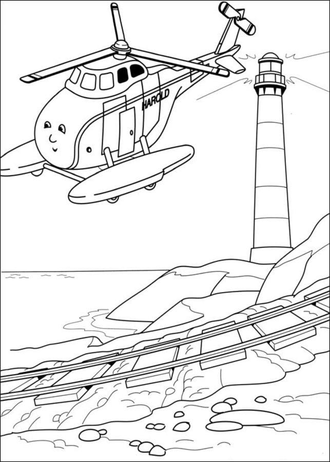 Dibujos para colorear Thomas y sus amigos imprimible gratis