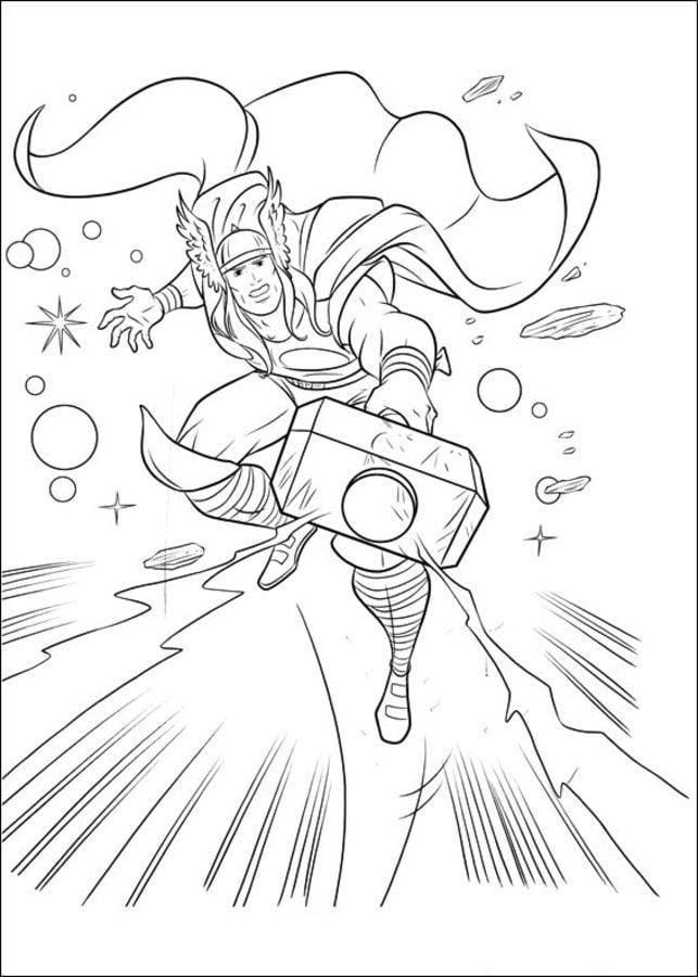 Dibujos para colorear: Thor imprimible, gratis, para los niños y los ...