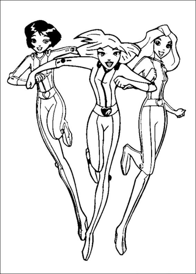 Coloriages totally spies imprimable gratuit pour les - Totally spies coloriage ...