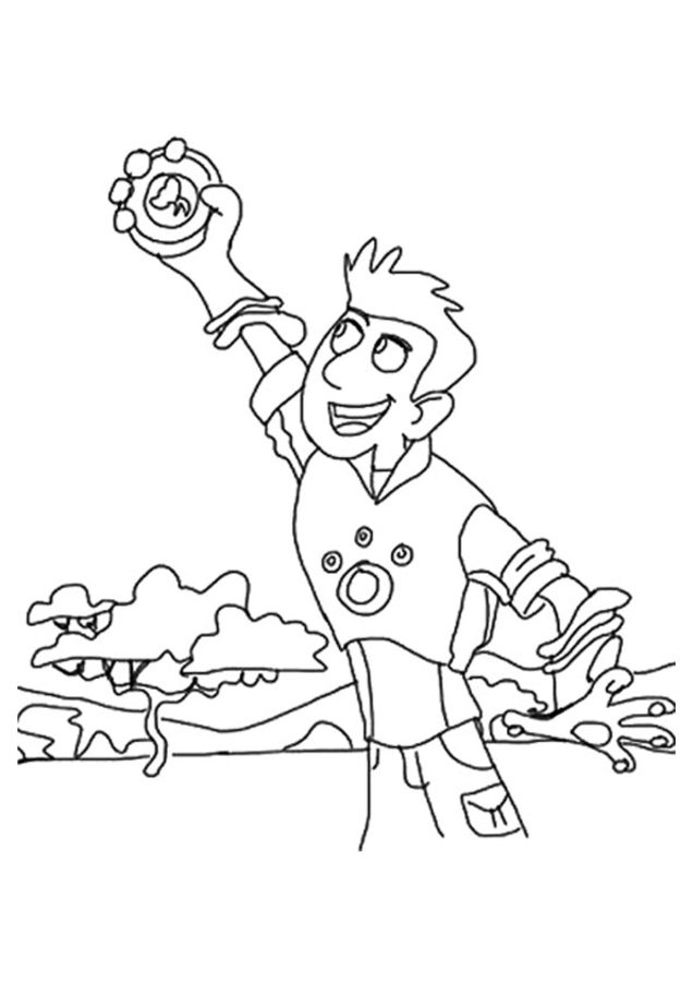 Wild Kratts Brother With A Seal Coloring Pages Printable | 900x636