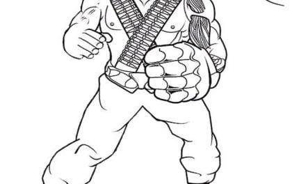 Ausmalbilder: Action Man